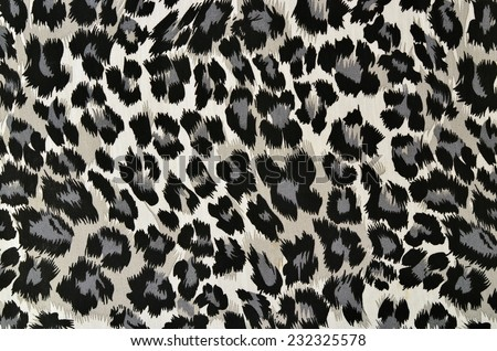 Grey and black leopard pattern.  Spotted animal print as background. - stock photo