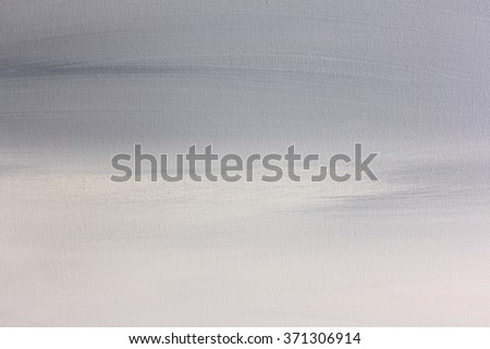 Grey and White Macro Painted Canvas Background - stock photo