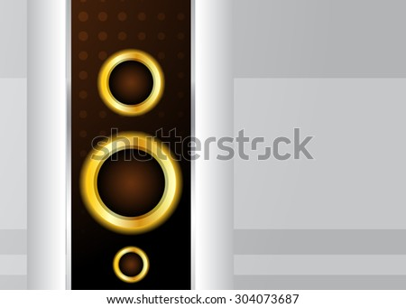 Grey background with gold circle