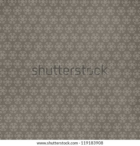 grey background with snowflake - stock photo