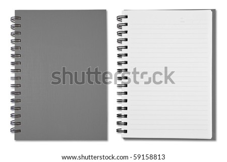 Grey Blank Note Book