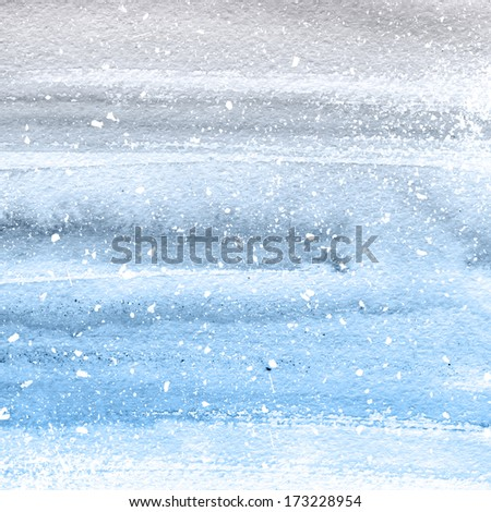 Grey blue watercolor. Hand painted striped background. - stock photo