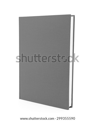grey book isolated on white background - stock photo