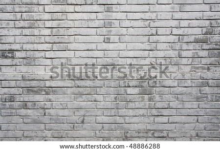 grey brick wall - stock photo