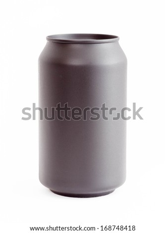 Grey can isolated on white background