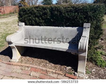 Cement Bench Stock Images Royalty Free Images Vectors