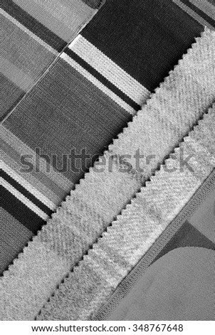 grey color  fabric design selection - stock photo