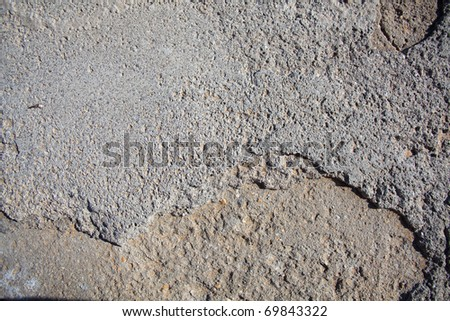 grey concrete floor texture, extreme closeup photo - stock photo