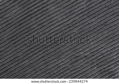 Grey corduroy texture for the background - stock photo