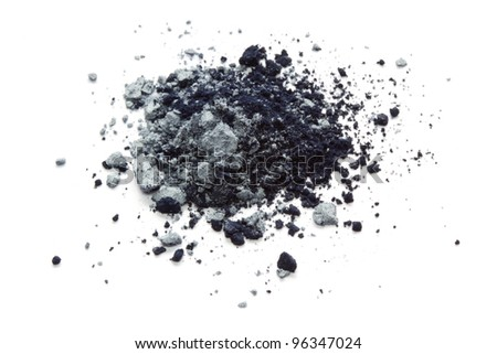 Grey eye shadow - stock photo