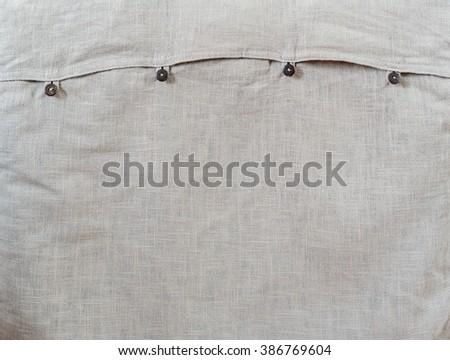 Grey fabric seamless pattern - texture background. - stock photo