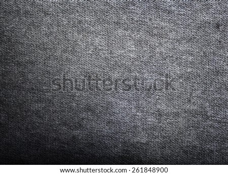 Grey fabric texture. Clothes background