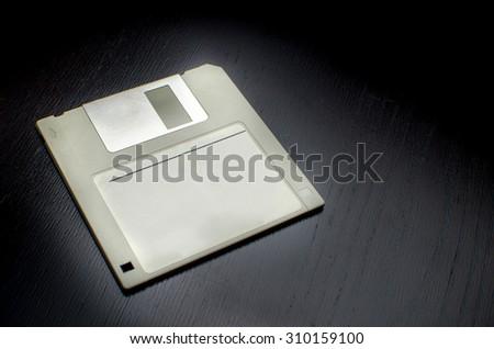 grey floppy disk - stock photo