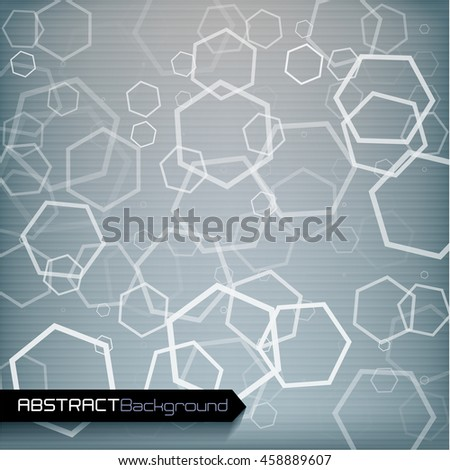 Grey geometric abstract background.