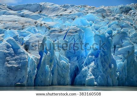 Grey Glacier, Torres del Paine NP - stock photo