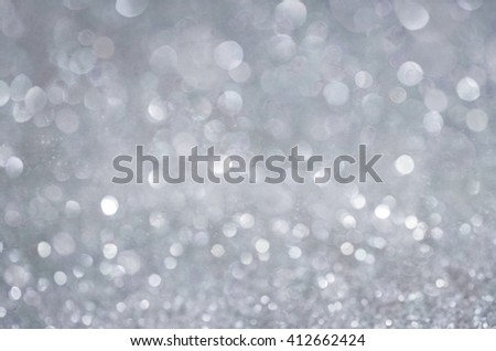 Grey glow glitter background. Elegant abstract background with bokeh  - stock photo