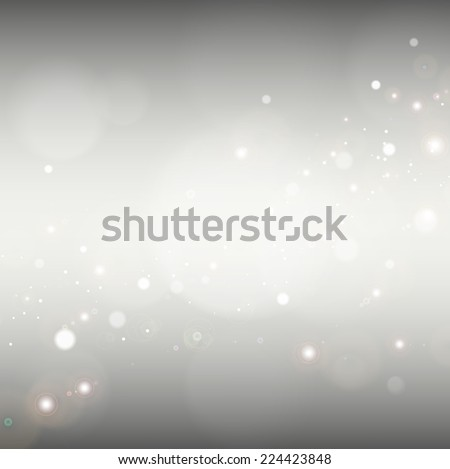 Grey gradient blurred abstract background with bokeh light.