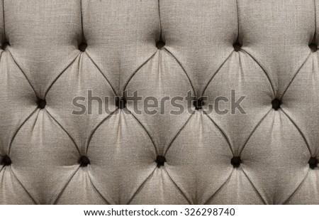 Grey Gray Soft Furnishings Fabric Sofa Upholstery - stock photo