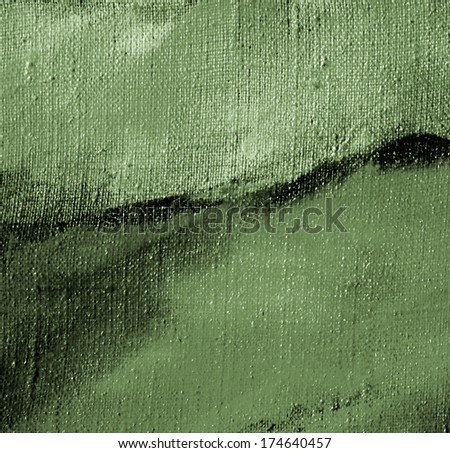 grey green abstract painting on a canvas oil ,background