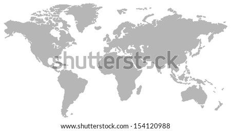 grey grid of empty cells pattern design world map - stock photo