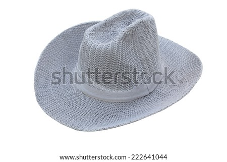 grey hat on a white background