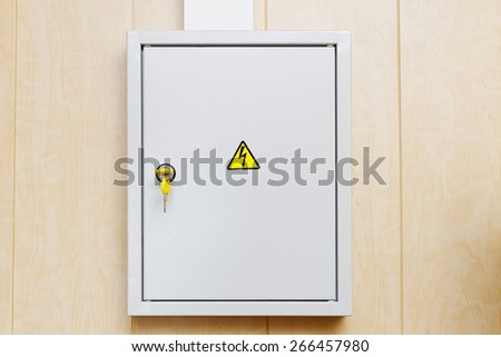fuse box stock images royalty images vectors shutterstock grey hinged power supply box on the wall