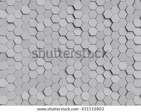 grey honeycomb background
