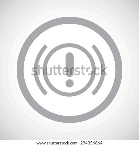 Grey image of alert sign in circle, on white gradient background - stock photo