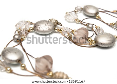 grey jewelry isolated on white