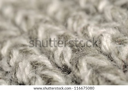 Grey Knitted Background Texture - stock photo