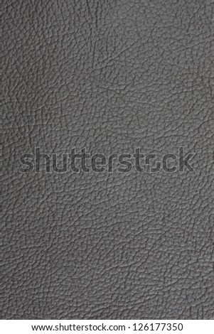 Grey Leather Background - stock photo