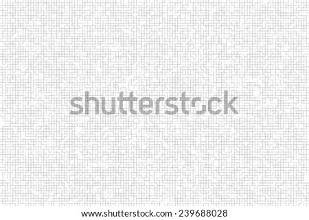 Grey lines on a white background forming cell maze. Pattern abstract background