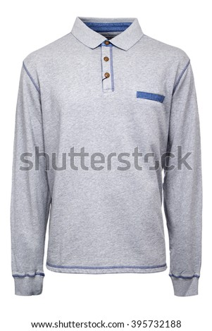 Grey Longsleeve Polo Shirt