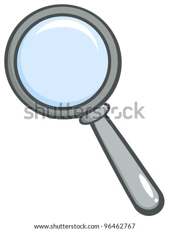 Grey Magnifying Glass.Vector version also available in gallery - stock photo