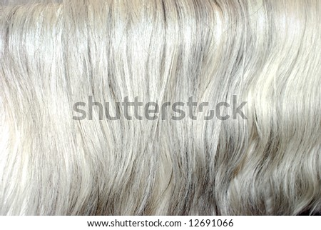 grey mane hair background texture - stock photo