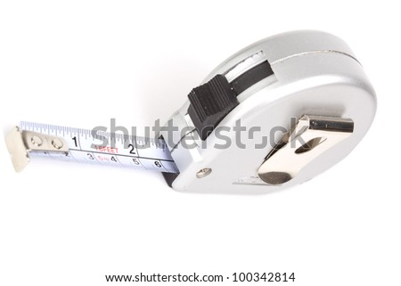 Grey measure tool isolated on white background - stock photo