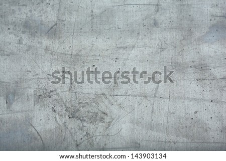 grey metal plate. - stock photo