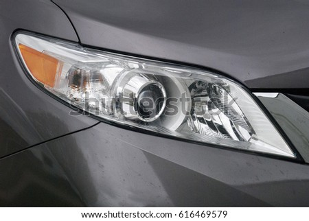 Grey Mini Van Headlight