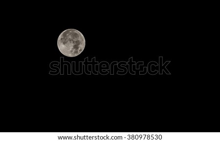 Grey Moon with night Sky