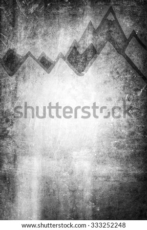 grey mountain background template - stock photo