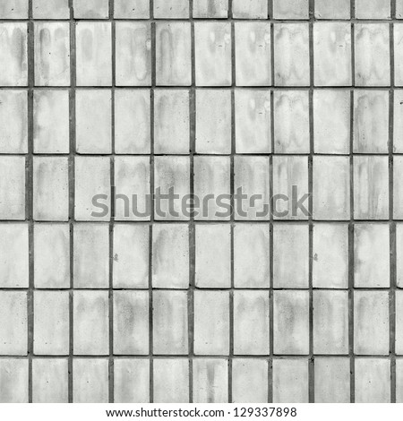 Grey Old Tile Wall. Seamless Tileable Texture.