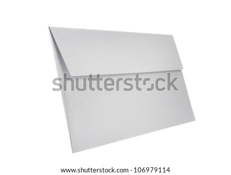 Grey Paper envelope isolated on white background with clipping path - stock photo