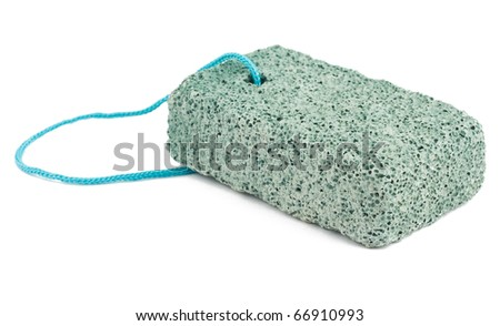 Grey pumice isolated on white background