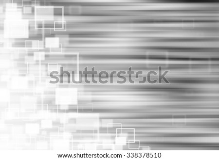 Grey ray lights technology defocused square abstract background.