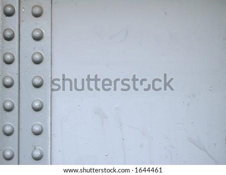 Grey rivets 3 - stock photo
