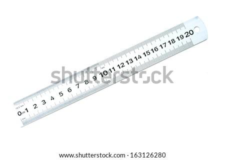 grey ruler - stock photo