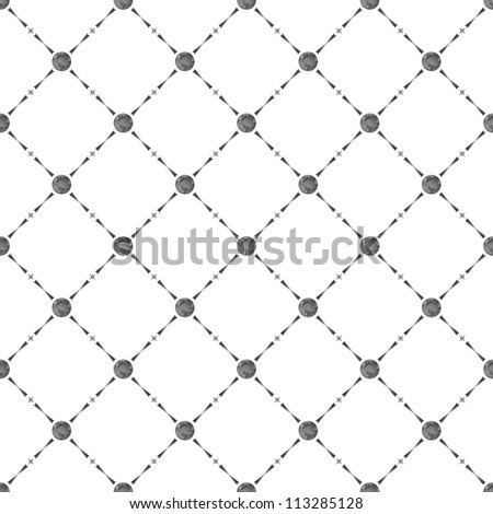 Grey seamless pattern with earth symbol, bitmap copy. - stock photo