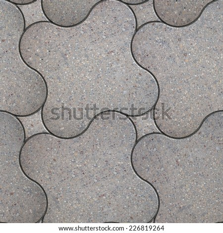 Grey Slabs the Streamlined of Form. Seamless Tileable Texture. - stock photo