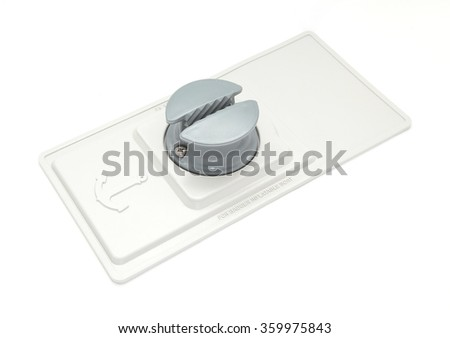 Grey slip stopper for inflatable boat isolated on white