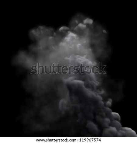 Grey Smoke - stock photo